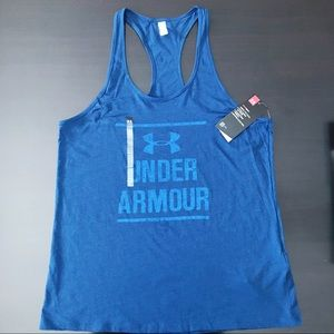 NWT💥 UNDER ARMOUR Racerback Tank Distressed Look